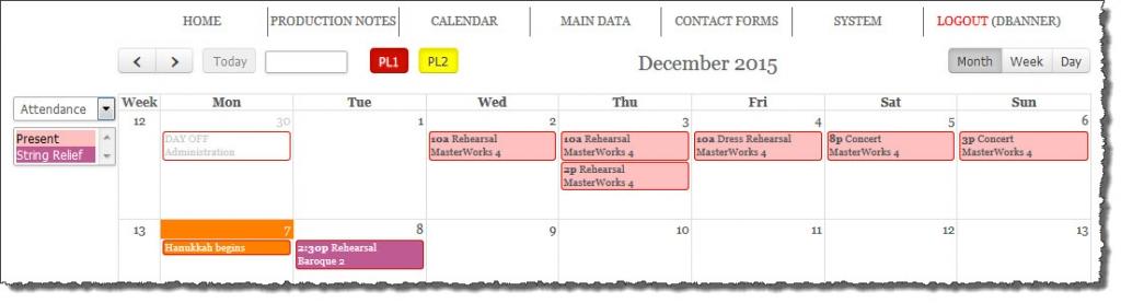 Online Personal Calendar